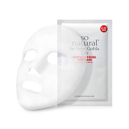 Успокаивающая маска для лица с экстрактом центеллы So Natural Calming Centella Facial Thin Mask, 1 шт, фото 2