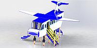 Игровой макет самолет, с крышей, лестницей, горкой