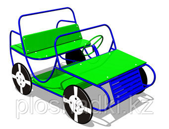 Игровой макет, машинка детская, с сидением и рулём, металлическая