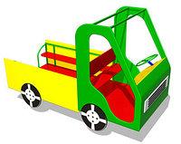 Игровой макет, детская машинка для игры, с рулём, сидениями, металлическая
