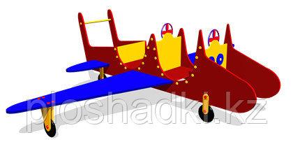 Дворовые изделия, игрушка для детей самолёт, с сидениями, из металла