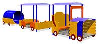 Дворовые изделия, машинки для детей, с навесом, сидениями, с трубой