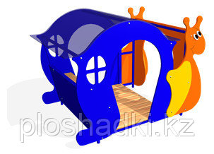 Дворовые изделия, домик в виде улитки с навесом, сидениями