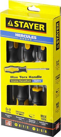"""Набор STAYER """"MASTER"""" HERCULES: Отвертки, Cr-V, эргономичная двухкомпонентная рукоятка, 6шт, фото 2"""