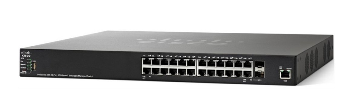 Cisco SG350XG-24T 24-port 10GBase-T Stackable Switch