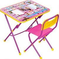 НИКА Набор мебели МАША И МЕДВЕДЬ (стол-парта+пласт стул) Азбука3