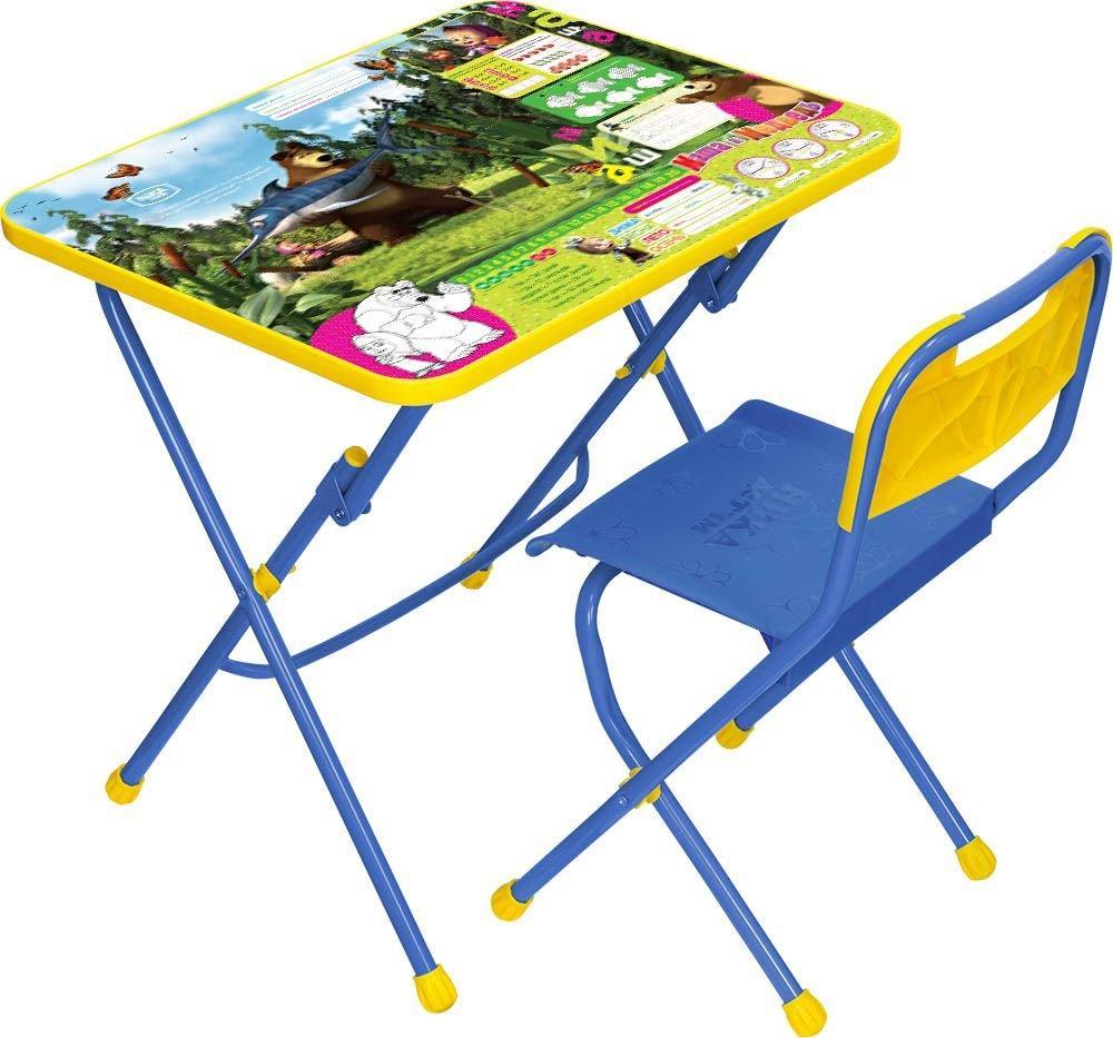 НИКА Набор мебели МАША И МЕДВЕДЬ (стол-парта+пласт стул) Ловись рыбка