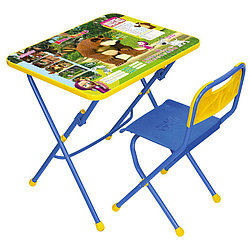 НИКА Набор мебели МАША И МЕДВЕДЬ (стол-парта+пласт стул) Позвони мне