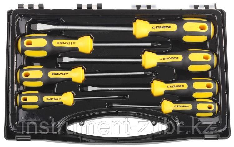 """Набор STAYER """"MASTER"""": Отвертки слесарные, двухкомпонентная рукоятка, магнитный наконечник, 7шт                                                       , фото 2"""