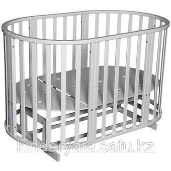 Кроватка трансформер Антел Северянка-3 маятник Белая+ 2 матраса