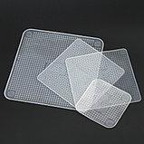 Силиконовые пленки-крышки Stretch and Fresh для хранения продуктов многоразовые - набор 4 шт., фото 3