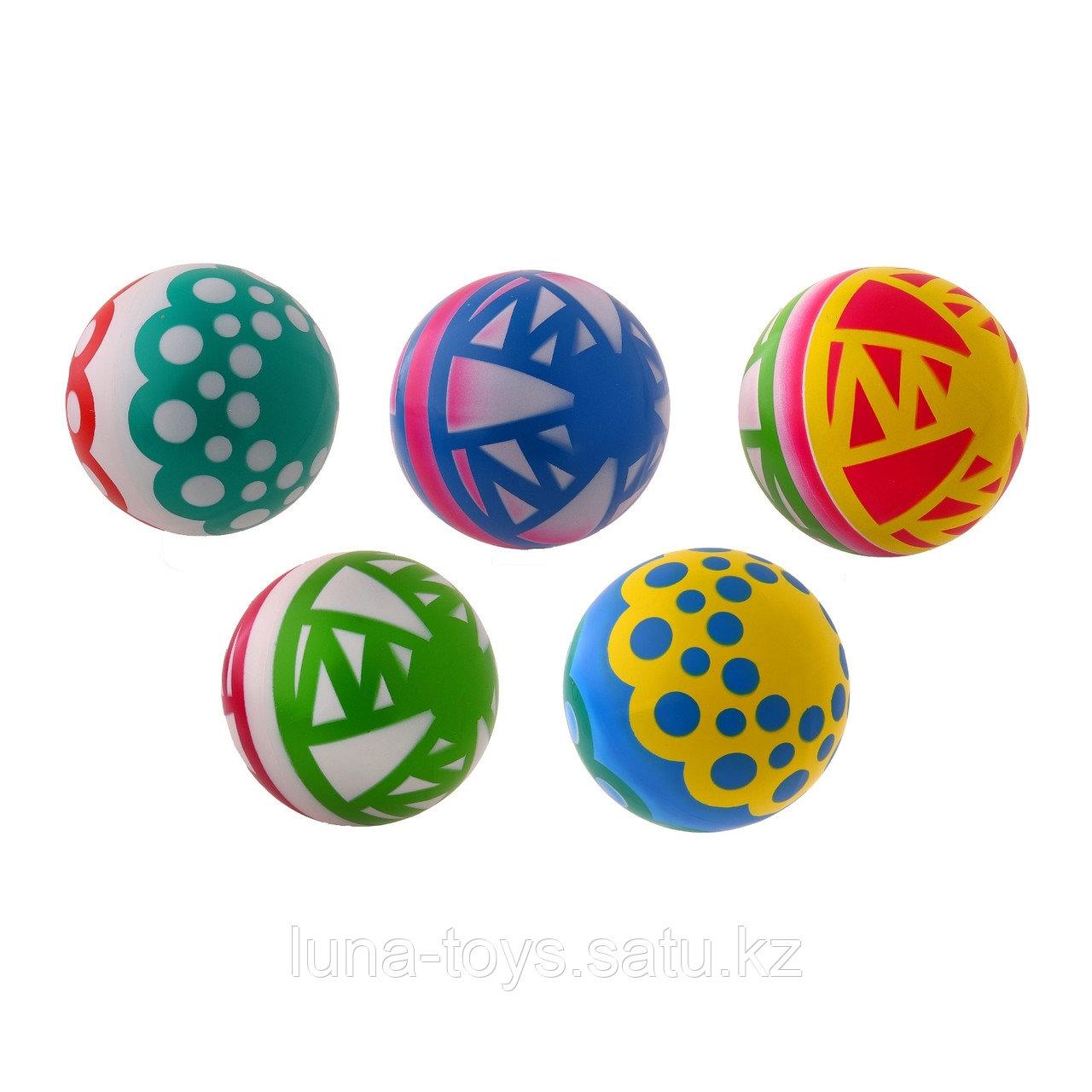 Мяч диаметр 200 мм лакированный, цвета МИКС С-34ЛП