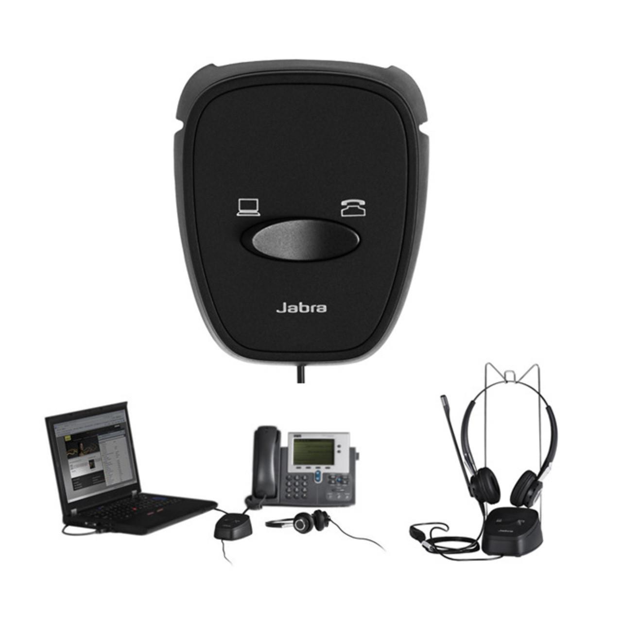 Переключатель между стационарным телефоном и компьютером Jabra Link 180