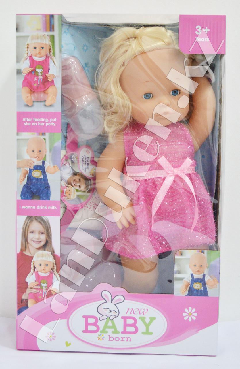 Детская кукла девочка New Baby Born с аксессуарами - фото 2