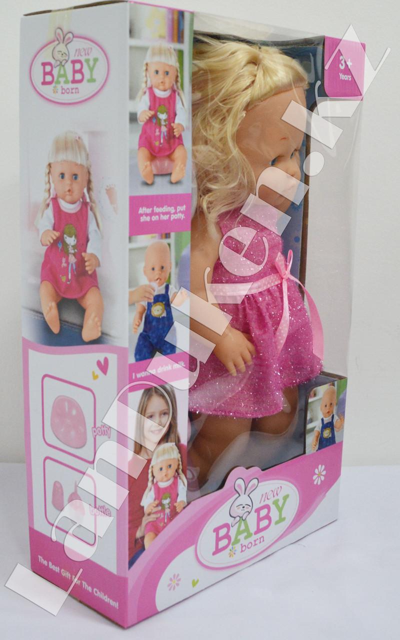 Детская кукла девочка New Baby Born с аксессуарами - фото 3