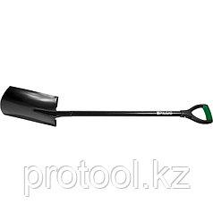 Лопата штыковая, металлический черенок, прямоугольная// PALISAD