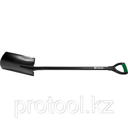 Лопата штыковая, металлический черенок, прямоугольная// PALISAD, фото 2