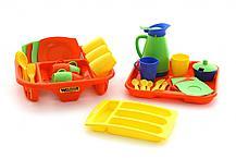 """Набор детской посуды """"Алиса"""" с сушилкой, подносом и лотком на 4 персоны"""