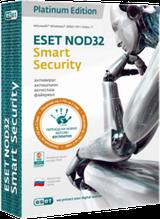 ESET NOD32 Smart Security Platinum Edition(BOX) База 3ПК/2года