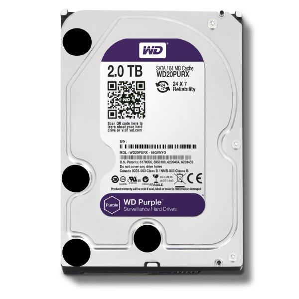 Жесткий диск Western Digital Purple 3.5 PURX 2TB 7.2K SATA3