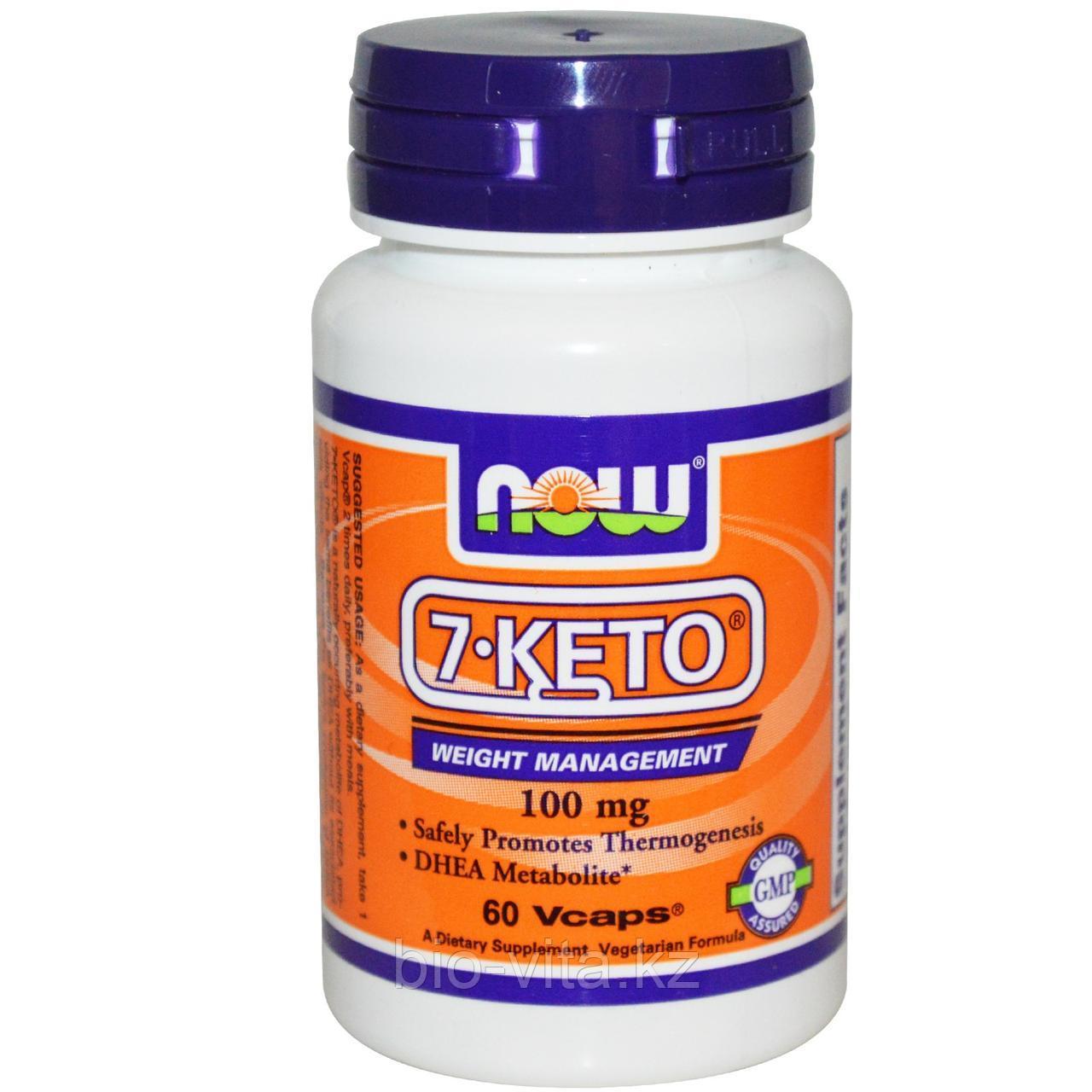 Now Foods, 7 -КЕТО, ДГЭА 100 мг, 60 капсул.
