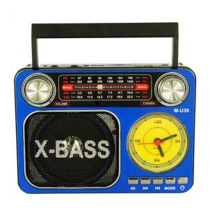 Радиоприемник Meier M-U36 c MP3, фонариком и часами