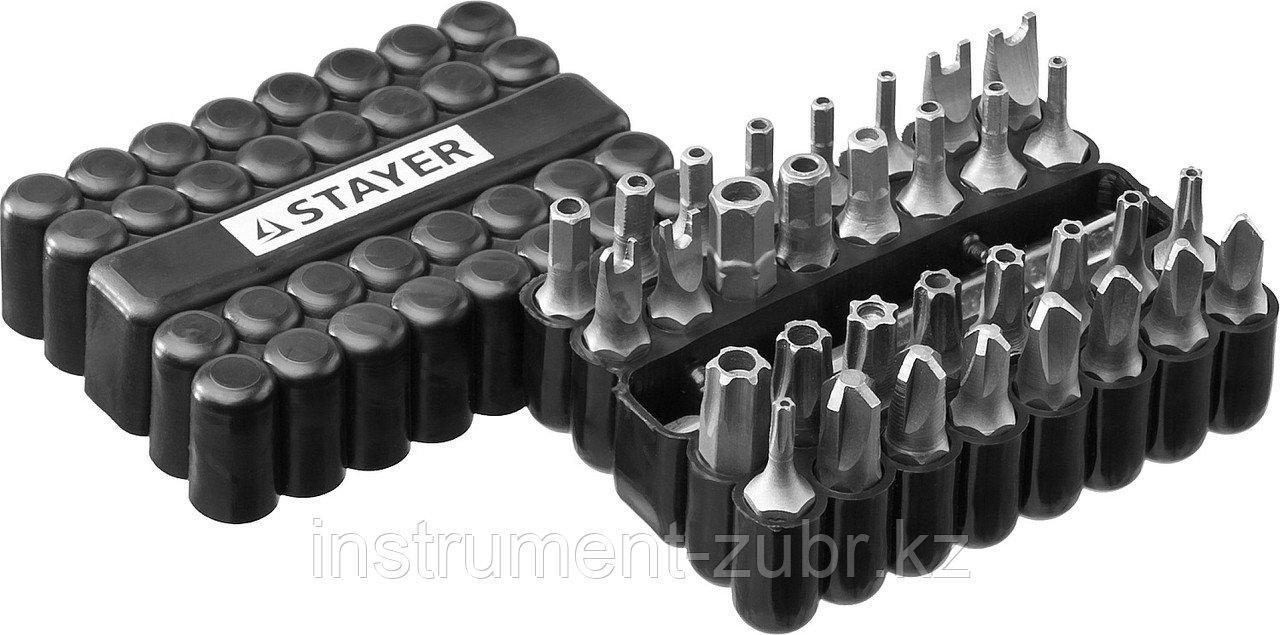 Набор, STAYER Master 26084-H33: Биты СПЕЦИАЛЬНЫЕ Cr-V, с магнитным адаптером, в ударопрочном держателе, 33 предмета