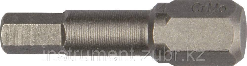 """Биты """"X-DRIVE"""" торсионные кованые, обточенные, KRAFTOOL 26127-3-50-2, Cr-Mo сталь, тип хвостовика E 1/4"""", HEX3, 50мм, 2шт"""