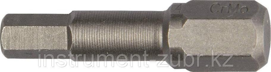 """Биты """"X-DRIVE"""" торсионные кованые, обточенные, KRAFTOOL 26127-3-50-2, Cr-Mo сталь, тип хвостовика E 1/4"""", HEX3, 50мм, 2шт, фото 2"""
