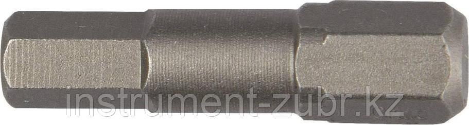 """Биты """"X-DRIVE"""" торсионные кованые, обточенные, KRAFTOOL 26127-5-50-2, Cr-Mo сталь, тип хвостовика E 1/4"""", HEX5, 50мм, 2шт, фото 2"""