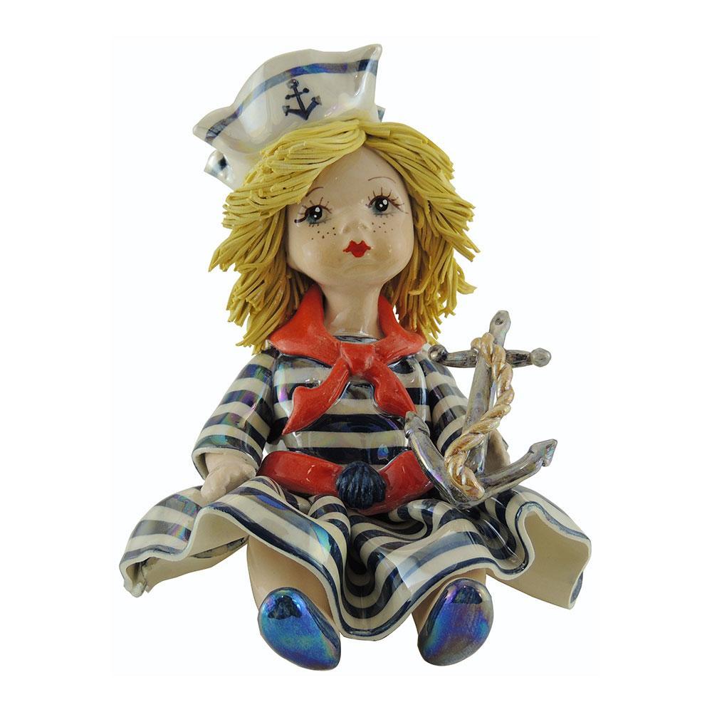 Статуэтка Девочка морячка. Италия. Ручная работа