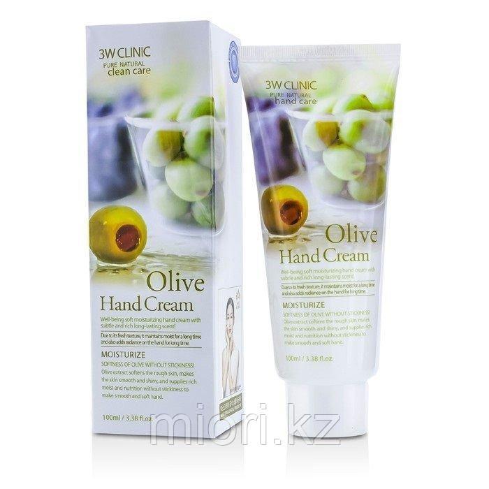 Крем для рук увлажняющий с экстрактом ОЛИВЫ Olive Hand Cream 3W CLINIC 1