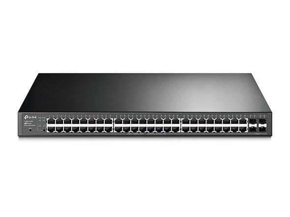 TP-Link T1600G-52PS Гигабитный коммутатор, 48 портов RJ45 10/100/1000  PoE + 4SFP