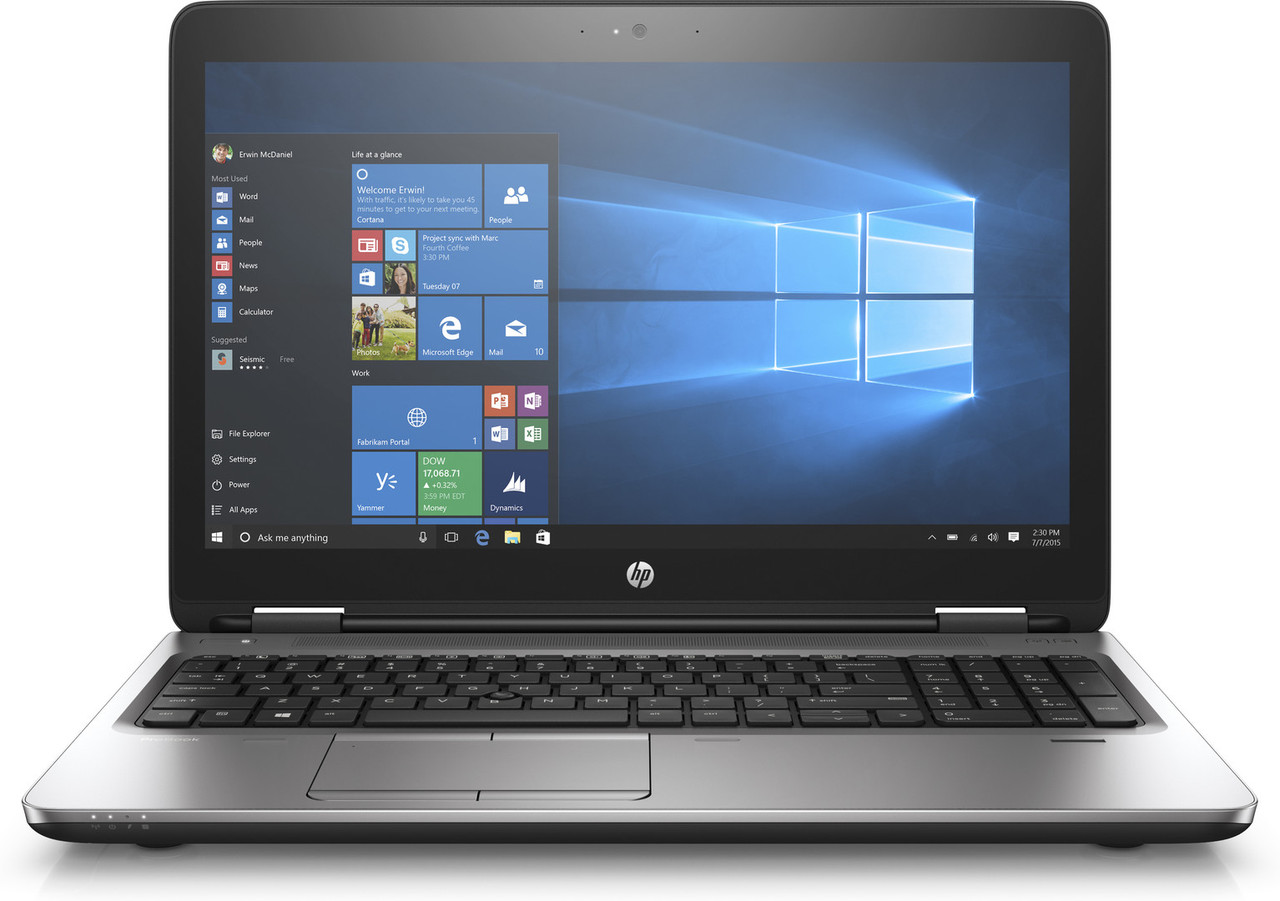 ProBook 650 G3 i5-7200U 15 4GB/500 DVDRW Camera Win10 Pro