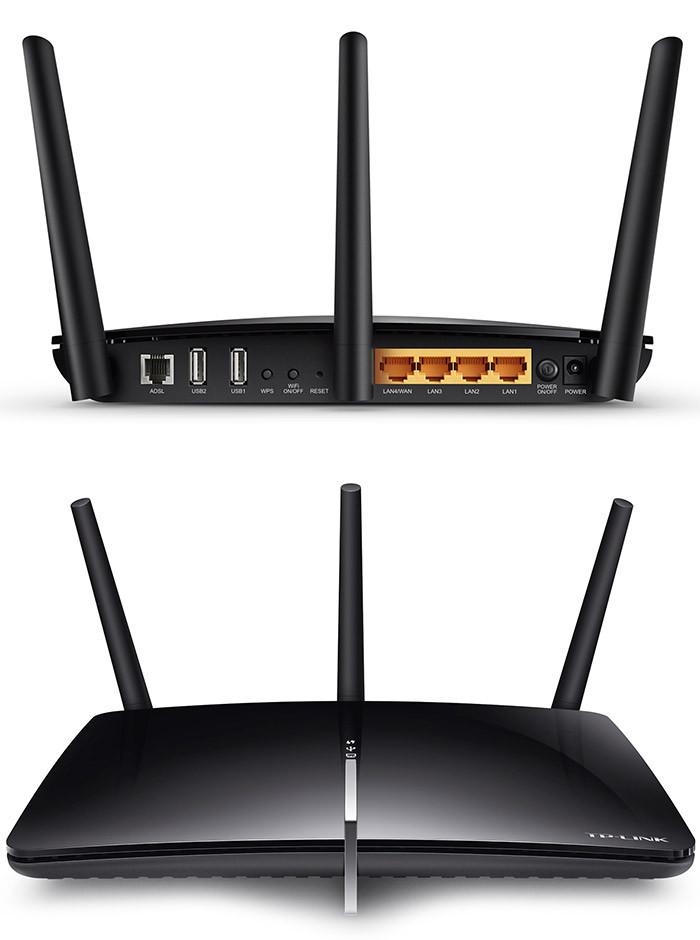 Модем беспроводной ADSL2+ AC1750 GbE Tp-Link Archer D7