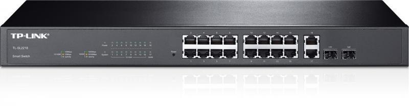 Коммутатор Smart 16-портовый Tp-Link TL-SL2218