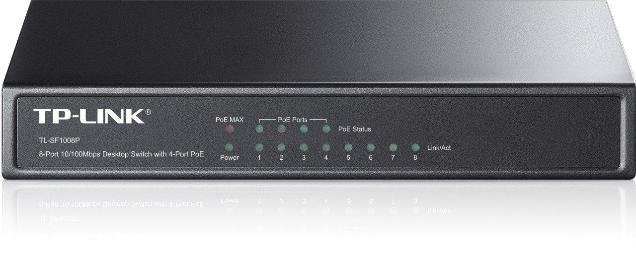 Коммутатор PoE  8-портовый Tp-Link TL-SF1008P