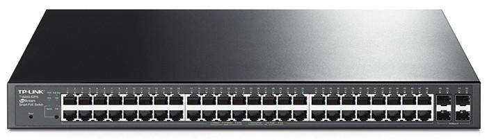 Коммутатор PoE+ Smart GbE 48-портовый Tp-Link T1600G-52PS (TL-SG2452P)