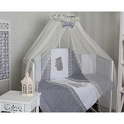 GulSara Комплект в кроватку 6 пр Бязь Серый