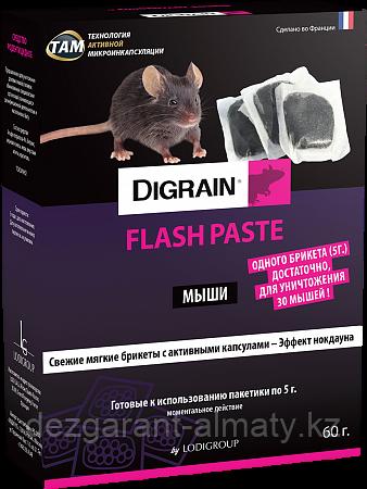 Дигрейн Флэш (коробка 60 г). Ядовитая приманка от крыс и мышей