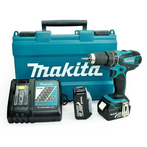 Аккумуляторный шуруповерт MAKITA DHP456 RFE