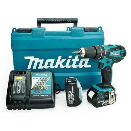 Аккумуляторный шуруповерт MAKITA DHP456 RFE, фото 2