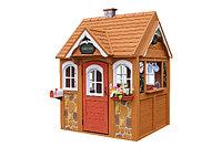 Деревянный домик «Джорджия-2», с крышей, меловой доской, игровой посудой, дверью, фото 1