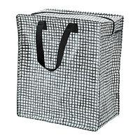 Сумка  КНЭЛЛА  черный, белый, 47 л IKEA, ИКЕА