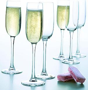 Набор фужеров для шампанского Luminarc Versailles 6 шт (160 мл)