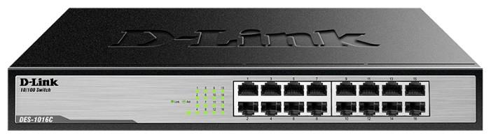 D-LinkКоммутаторDES-1016C/A1AНеуправляемый коммутатор с 16 портами 10/100Base-TX