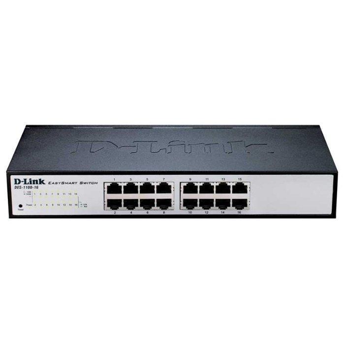 D-Link DES-1100-16/A2A  Настраиваемый  комм EasySmart с 16 портами 10/100 /