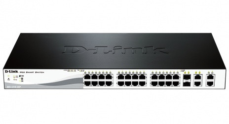 WEB Smart III Switch with 24-port PoE 10/100Base-TX + 2 10/100/1000Base-T + 2 Combo 10/100/1000Base-