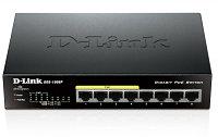 Неуправляемый коммутатор DGS-1008P/C1B с 8 портами 10/100/1000Base-T и функцией энергосбережения (4 порта с поддержкой PoE 802.3af/802.3at (30 Вт),