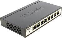 Настраиваемый компактный коммутатор D-Link EasySmart с 8 портами 10BASE-T/100BASE-TX/1000BASE-T